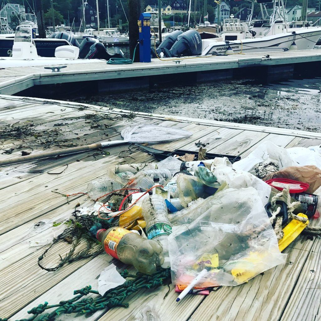 rubbish removed from the ocean