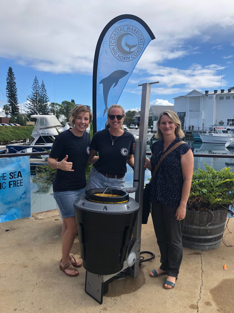 Council litter grant recipients install Seabin