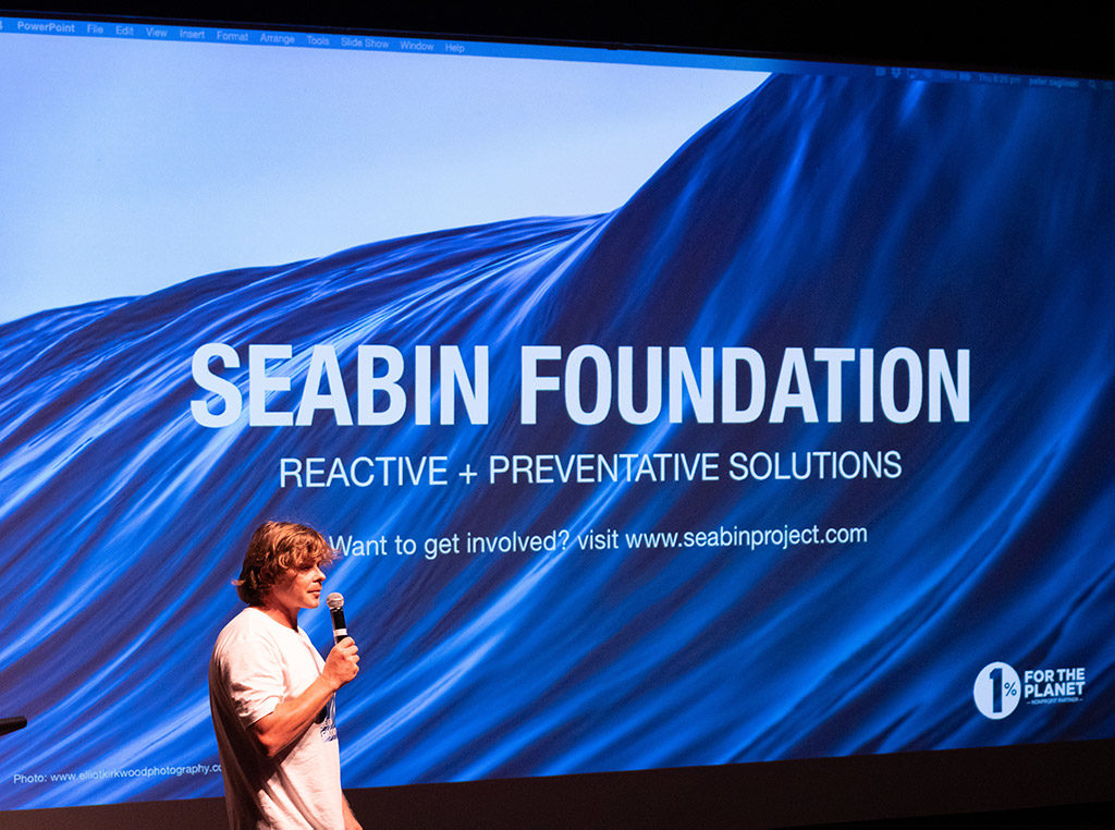 Seabin CEO and Co-founder, Pete Ceglinski, hosted the evening