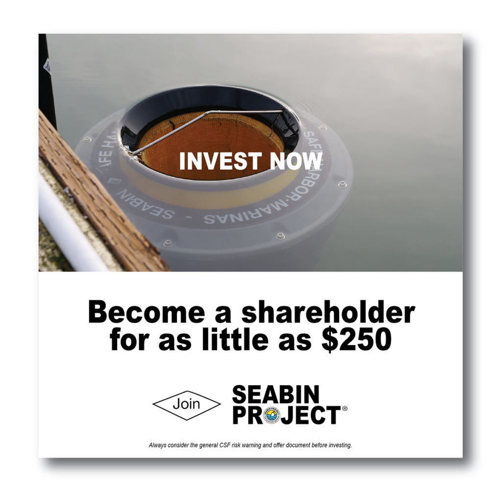 invest in Seabin Project and make a difference
