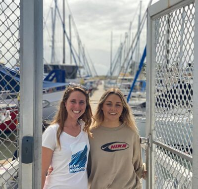 Elisha Bell Seabin volunteer and Mahi Paquette COO of the Seabin Foundation