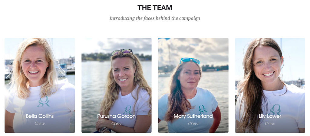 The faces behind the Ocean Sheroes Fundraising Campaign